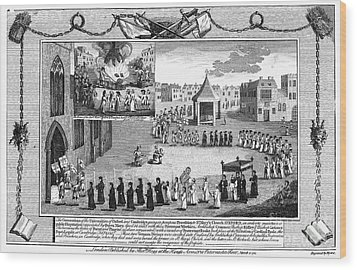 Oxford Martyrs, 1556 Wood Print by Granger