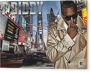P Diddy Wood Print by The DigArtisT