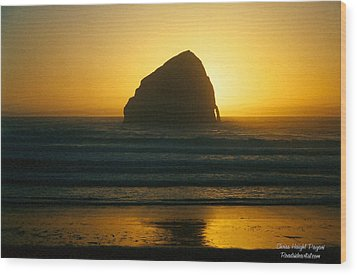 Pacific City Sunset Wood Print
