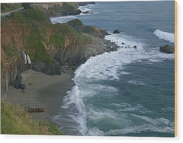 Pacific Coast California Highway 1 Seascape Wood Print by Gregory Scott