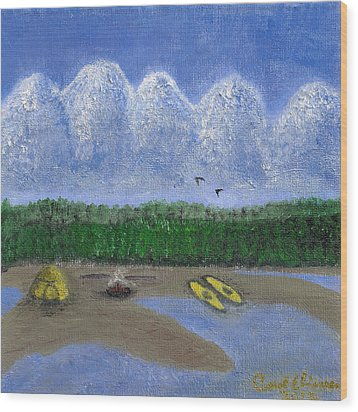 Pacific Northwest Camping Wood Print