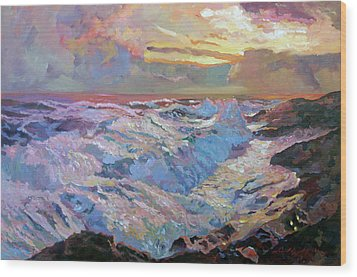 Pacific Ocean Blue Wood Print by David Lloyd Glover