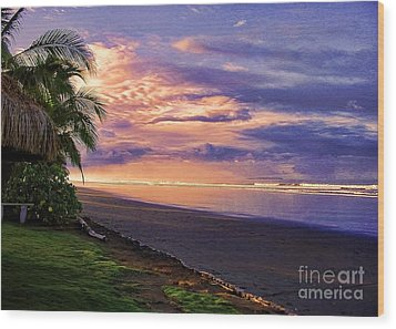 Pacific Sunrise Wood Print
