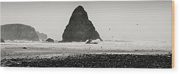 Wood Print featuring the photograph Pacific Whitewash by Kevin Munro