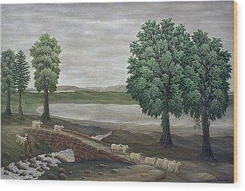 Pack Horse Bridge - Lake District Wood Print by Ronald Haber