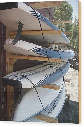 Paddle Boards Wood Print