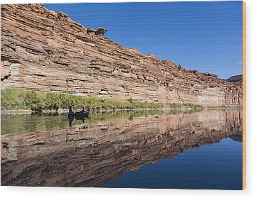 Paddling The Green River Wood Print by Tim Grams