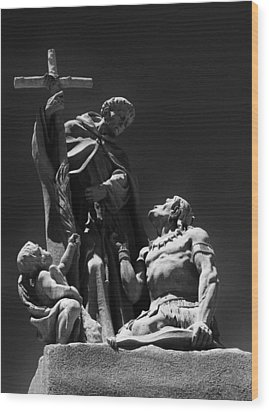 Padre Garces Wood Print by Franklin Jeffers