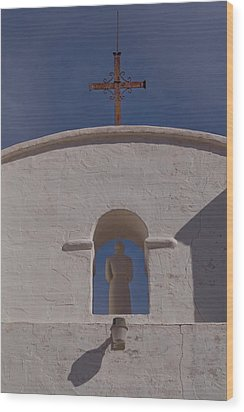Wood Print featuring the photograph Padre In Tower by Tom Singleton