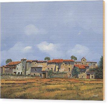 Paesaggio Aperto Wood Print by Guido Borelli