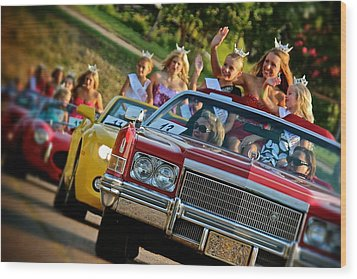 Pageant Parade Wood Print