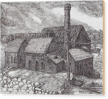 Paint Factory Rocky Neck Wood Print