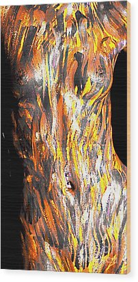 Paint Smears Wood Print