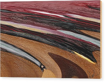 Paint Strokes Wood Print by Pam Gleichman