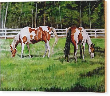 Paint The Fields Wood Print by Crystal  Harris-Donnelly