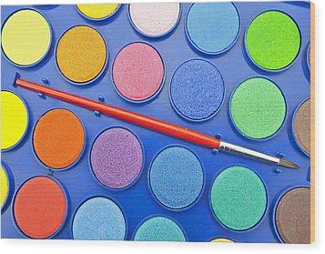Paintbox Wood Print by Joana Kruse
