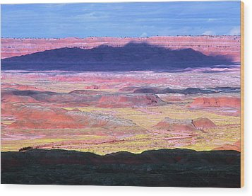 Painted Desert Cloud Shadow Wood Print