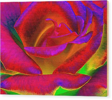 Painted Rose 1 Wood Print by Will Borden