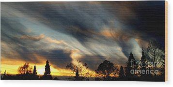 Painted Sky Over Denmark Wood Print by Michael Canning
