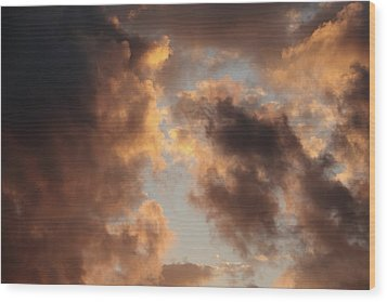 Painter Clouds Wood Print by Nick  Shirghio