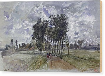 Painting Of Countryside Wood Print by Photos.com