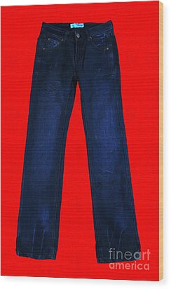 Pair Of Jeans 2 - Painterly Wood Print by Wingsdomain Art and Photography