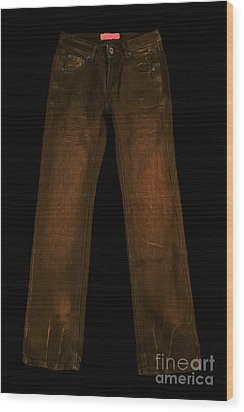 Pair Of Jeans 3 - Painterly Wood Print by Wingsdomain Art and Photography