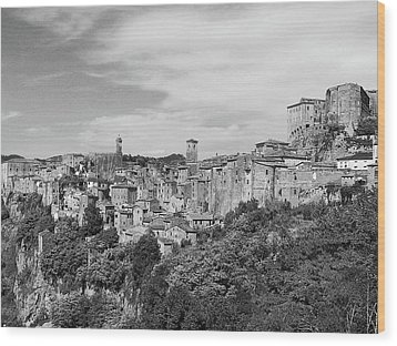 Palace And City Wood Print by Marco Di Fabio