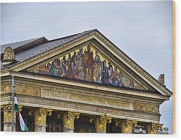 Palace Of Art - Heros Square - Budapest Wood Print by Jon Berghoff