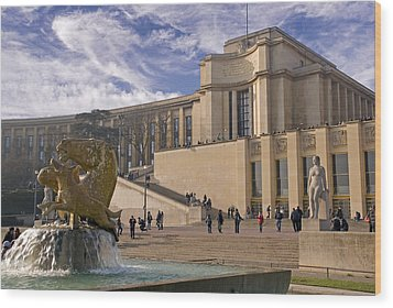 Wood Print featuring the photograph Palais De Chaillot by Rod Jones