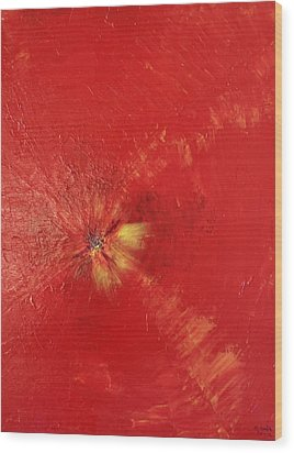 Palette Style Zoom  Red Poppe  Wood Print by Pretchill Smith