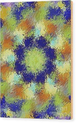 Pallet Of Colors Wood Print by Deborah Benoit
