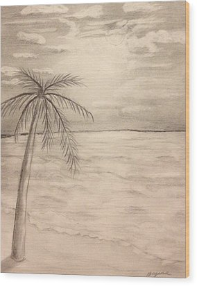 Palm Breeze Wood Print