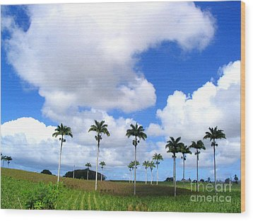 Palm Parade Wood Print by Barbara Marcus