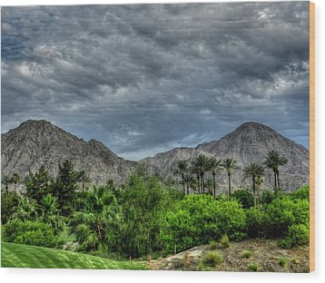 Palm Springs Hdr 013 Wood Print by Lance Vaughn
