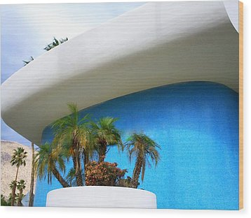 Palm Springs Modernism Wood Print by Randall Weidner