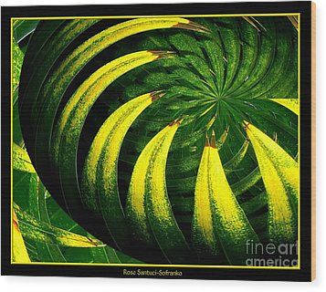 Palm Tree Abstract Wood Print by Rose Santuci-Sofranko