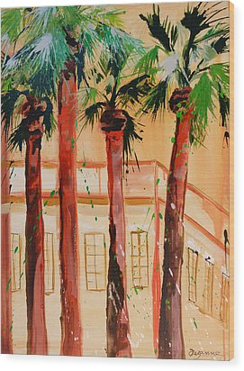 Palm Trees Wood Print by Suzanne Willis