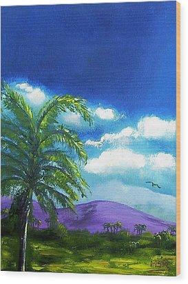 Palma Real Wood Print by Maria Soto Robbins