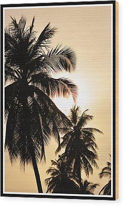 Palms Wood Print by Mark Britten