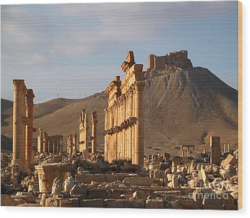 Palmyra Wood Print by Issam Hajjar
