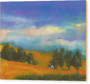 Palouse Wheat Fields Wood Print by David Patterson