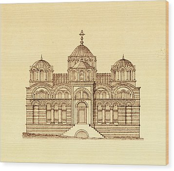 Pammakaristos Byzantine Church In Constantinople  Wood Print by Pictus Orbis Collection