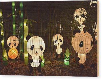 Pandamonium Wood Print by William Fields