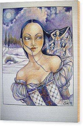 Pandora Wood Print by Jackie Rock