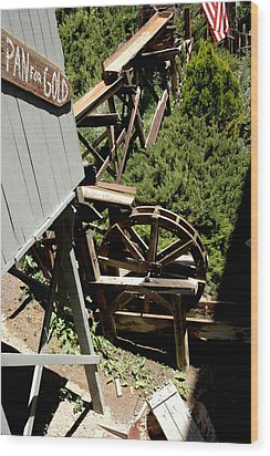 Panning For Gold In Virginia City Nevada Wood Print by LeeAnn McLaneGoetz McLaneGoetzStudioLLCcom