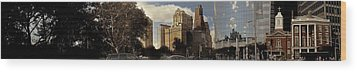 Panorama Of Manhattan Downtown  Wood Print by Alex AG