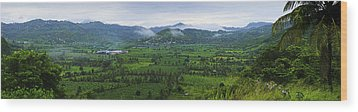 Wood Print featuring the photograph Panoramic 2- St Lucia by Chester Williams