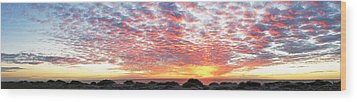 Panoramic Beach Sunset Wood Print by John Myers