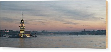 Panoramic View Of Maiden Tower Wood Print by Doruk Photography